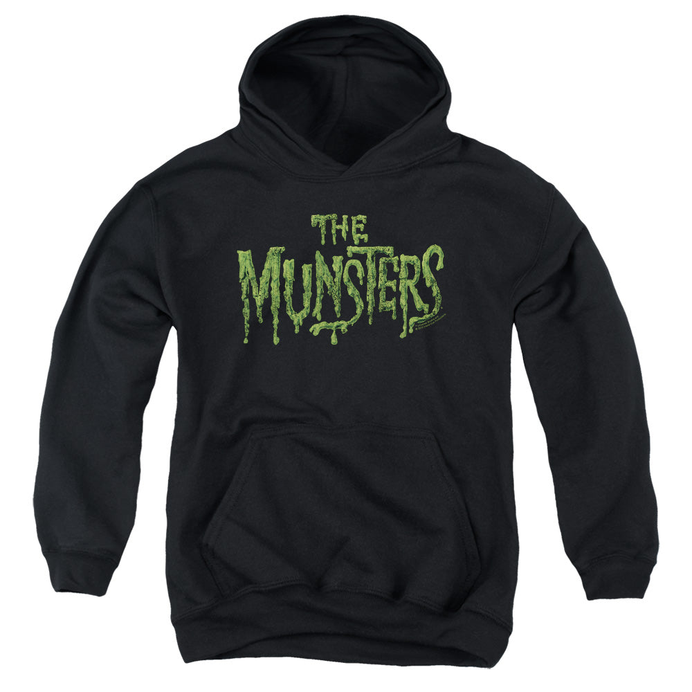 The Munsters - Distress Logo Youth Pull Over Hoodie