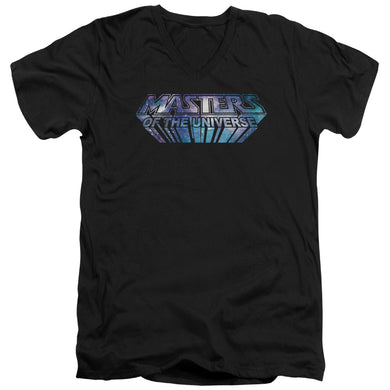 Masters Of The Universe - Space Logo Short Sleeve Adult V Neck