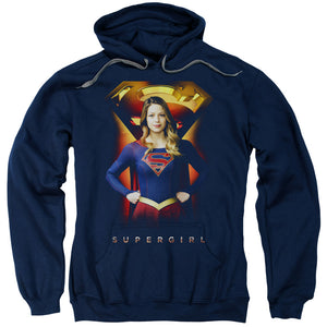 Supergirl - Standing Symbol Adult Pull Over Hoodie