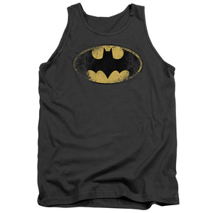 Batman - Destroyed Logo Adult Tank