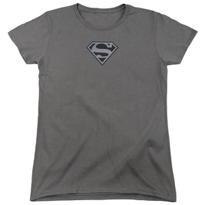 Superman - Superman Mesh Emblem Short Sleeve Women's Tee