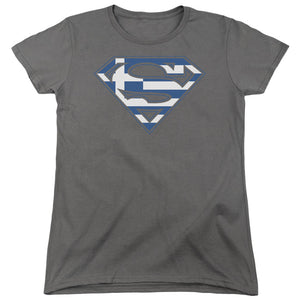 Superman - Greek Shield Short Sleeve Women's Tee