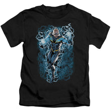 Jla - Black Lightning Bolts Short Sleeve Juvenile 18/1