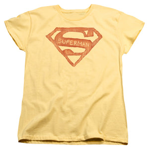 Superman - Roughen Shield Short Sleeve Women's Tee