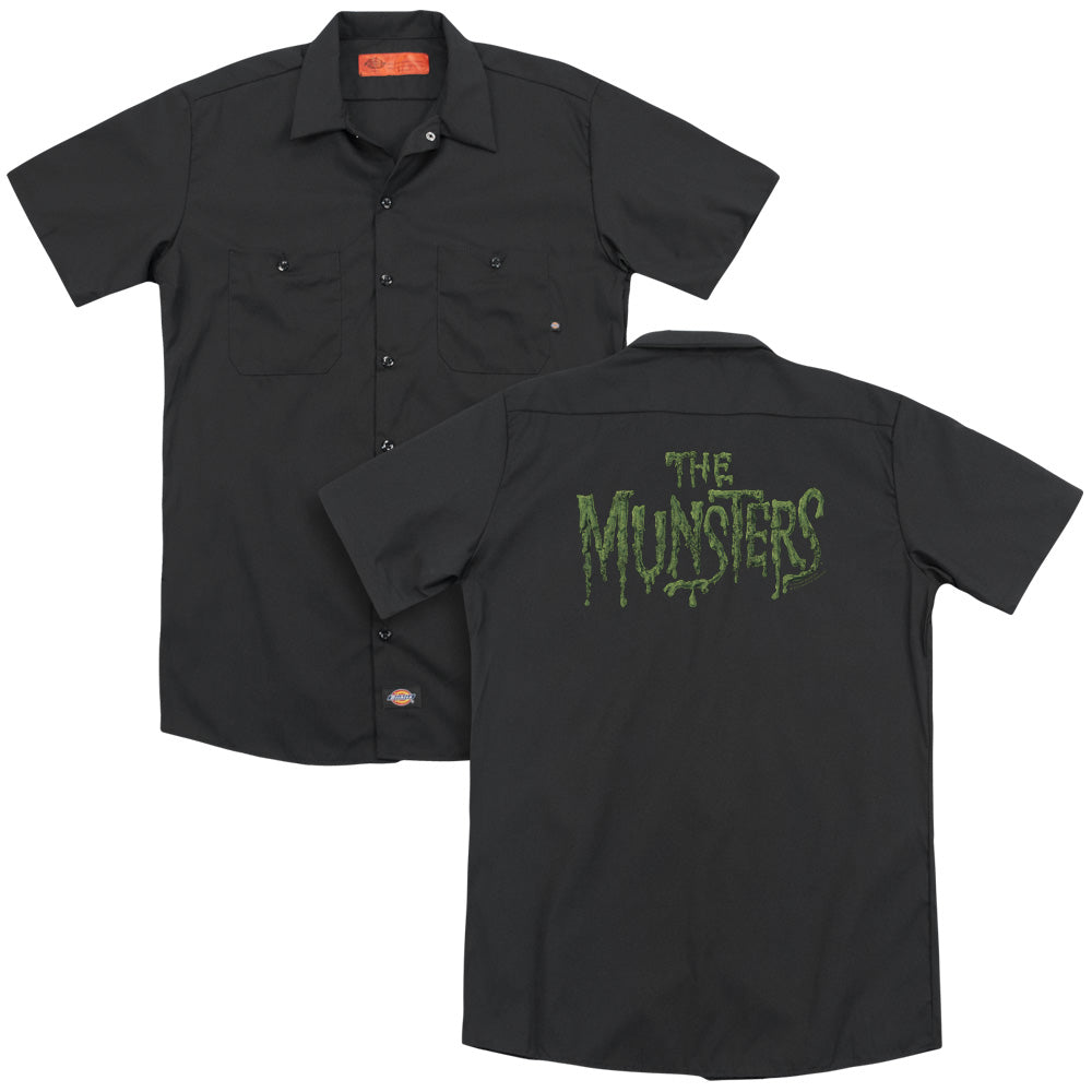 The Munsters - Distress Logo (Back Print) Adult Work Shirt