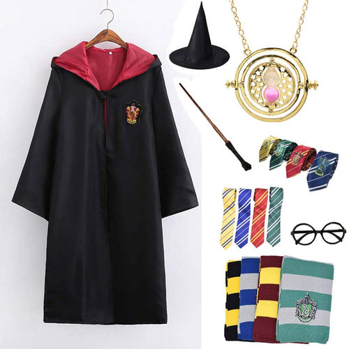 Harry Potter Cosplay Accessories - Gryffindor Ravenclaw Hufflepuff Slytherin Robe and Scarf