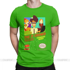 The It Crowd Nes 8 Bit Game T-Shirts - Green