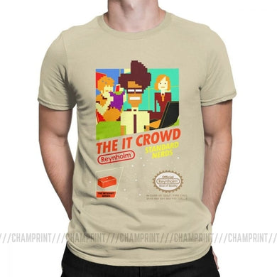 The It Crowd Nes 8 Bit Game T-Shirts - Khaki