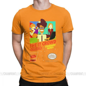 The It Crowd Nes 8 Bit Game T-Shirts - Orange