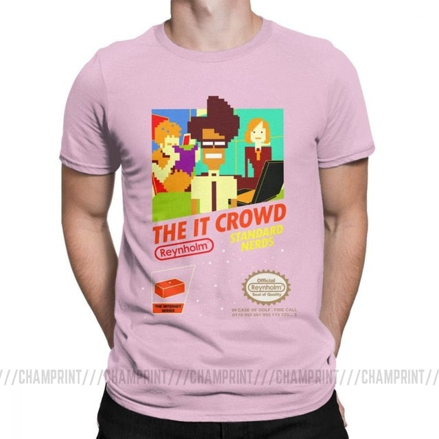 The It Crowd Nes 8 Bit Game T-Shirts - Pink