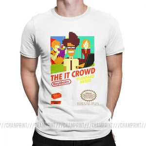 The It Crowd Nes 8 Bit Game T-Shirts - White