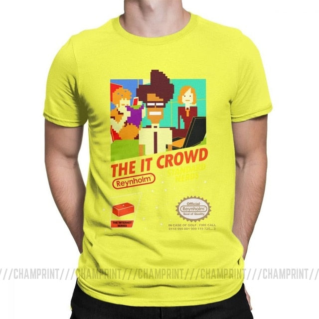 The It Crowd Nes 8 Bit Game T-Shirts - Yellow