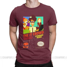 The It Crowd Nes 8 Bit Game T-Shirts - Burgundy