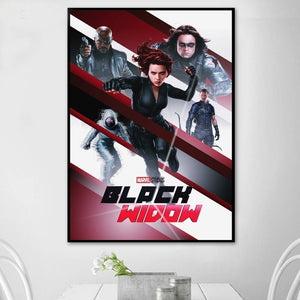 Black Widow (2020)  Movie Poster Canvas Art Print Wall Pictures for Living Room No Frame