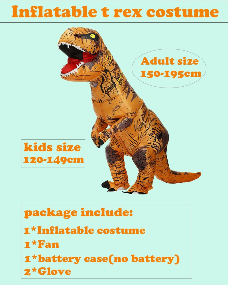 Adult Inflatable Costumes (Multiple Dinosaurs , Alien, Clown)