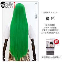 100Cm Long Straight Cosplay Wig Heat Resistant Synthetic Hair Anime Party wigs 26 Colors