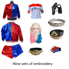 Suicide Squad Harley Quinn 9pc Set (Embroidered - Black) Cosplay