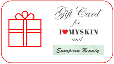 These gift cards are redeemable at both ilovemyskin online store and European Beauty  www.europeanbeautytoronto.com