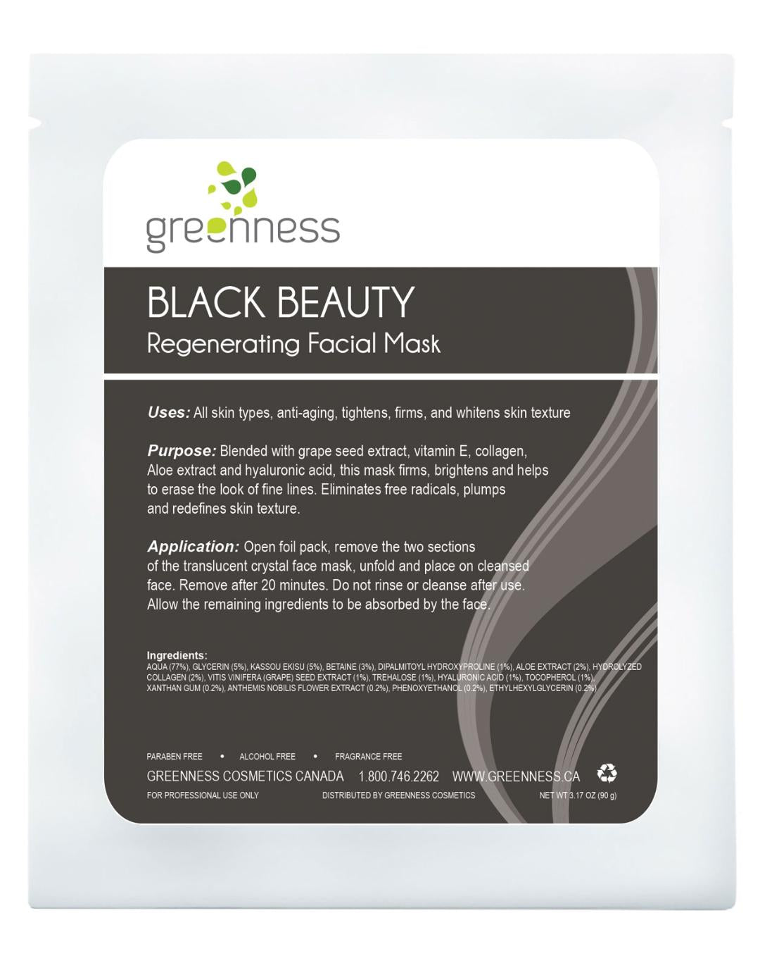 BLACK BEAUTY Regenerating Facial Mask