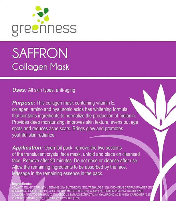 Saffron Collagen Mask