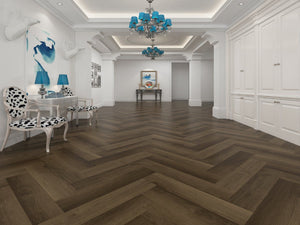 SPC Gaia Red Casa Ora Herringbone - Evergreen Wood INC