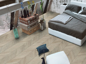 European Oak Zanzibar Herringbone - Evergreen Wood INC