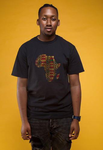 Kente 'King' Rhinestone T-shirt