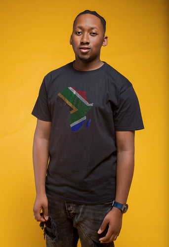 South Africa 'Nkosi' Rhinestone T-shirt