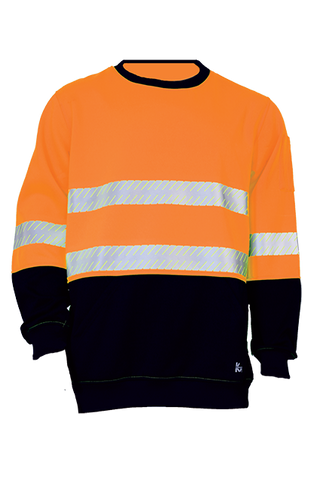 KM M3231T HI VIS FLEECE JUMPER WITH TAPE - Workin' Gear