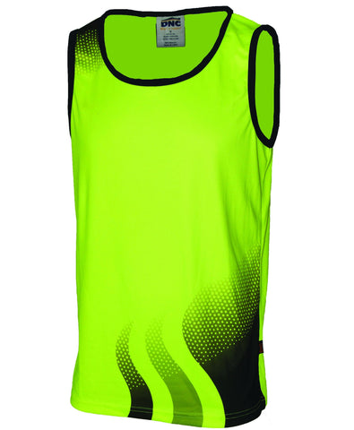 Workin Gear - DNC 3561 Wave Hi Vis Singlet