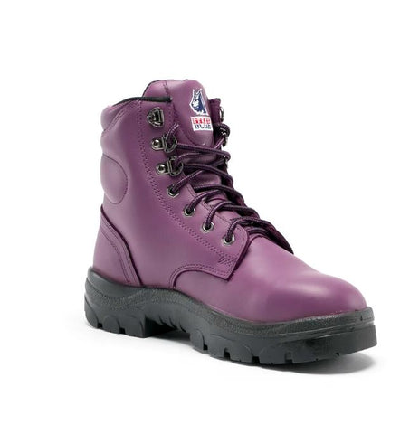 STEEL BLUE 512702 ARGYLE LACE UP BOOT LADIES - PURPLE - Workin' Gear
