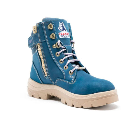 STEEL BLUE 512761 SOUTHERN CROSS LADIES ZIP SIDED BOOT - BLUE - Workin' Gear