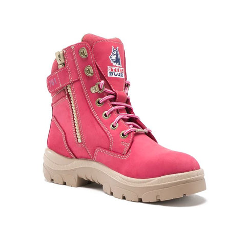 STEEL BLUE 512761 SOUTHERN CROSS LADIES ZIP SIDED BOOT - PINK - Workin' Gear