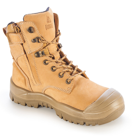 MONGREL 561050 HIGH ANKLE ZIPSIDER WITH SCUFF CAP - WHEAT - Workin' Gear