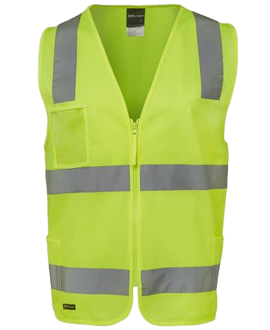 JB'S 6DNSZ HIVIS D+N SAFETY VEST ZIP FRONT 2 COLOURS - Workin' Gear