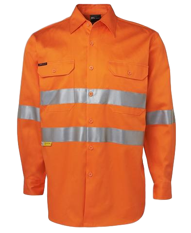 JB'S 6HDNL HI VIS TAPED L/S SHIRT - Workin' Gear