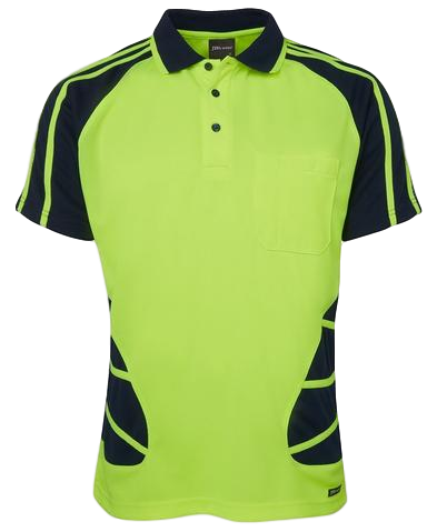 JB'S 6HSP HIVIS SPIDER POLO S/S - Workin' Gear