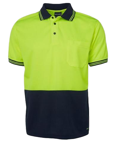 JB'S 6HVP HIVIS TRADITIONAL POLO S/S