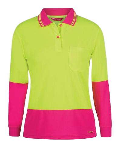 JB'S 6LHCL HIVIS LADIES POLO L/S - Workin' Gear