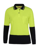 JB'S 6LHCL Hi Vis Ladies Polo L/S - Workin' Gear