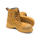 BLUNDSTONE 992 Lace Up Zip Side Safety Boot (Wheat) - Workin' Gear