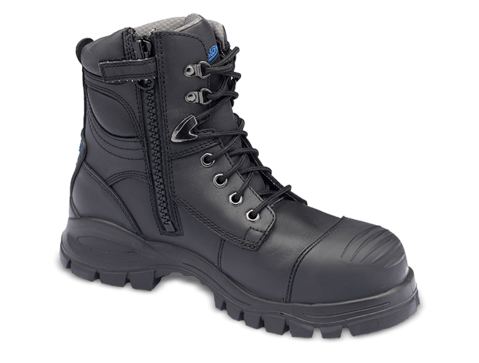 BLUNDSTONE 997 Zip Side Safety Boot Black - Workin' Gear