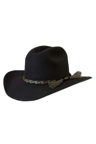 AKUBRA ROUGH RIDER BLACK - Workin' Gear