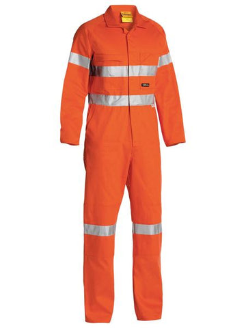 BISLEY BC607T8 HI VIS COVERALL 3M REFLECTIVE TAPE - Workin' Gear