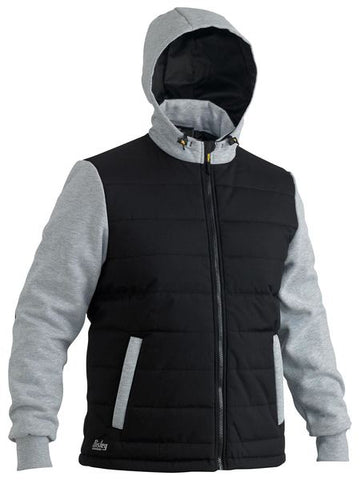 BISLEY FLEX & MOVE™ CONTRAST PUFFER FLEECE HOODIE - Workin' Gear
