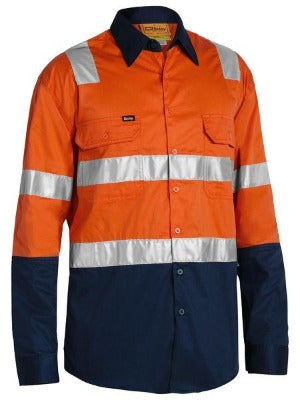 BISLEY BS6432T 3M Taped Cool Lighweight Shirt - Orange - Workin' Gear