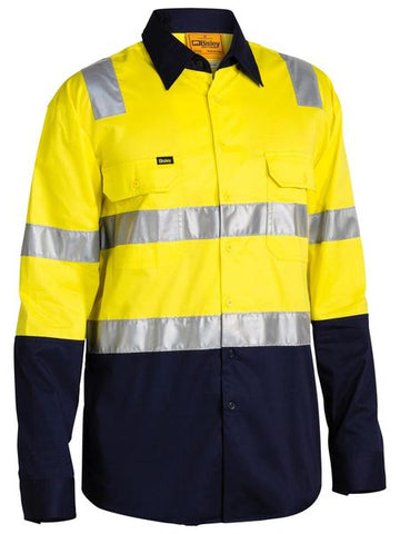 BISLEY BS6432T 3M TAPED COOL LIGHTWEIGHT SHIRT - YELLOW - Workin' Gear