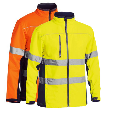 BISLEY Soft Shell Jacket with 3M Reflective Tape (BJ6059T) - Workin' Gear