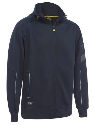 BISLEY Work Fleece Zip Front Hoodie with Sherpa Lining (BK6925) - Workin Gear