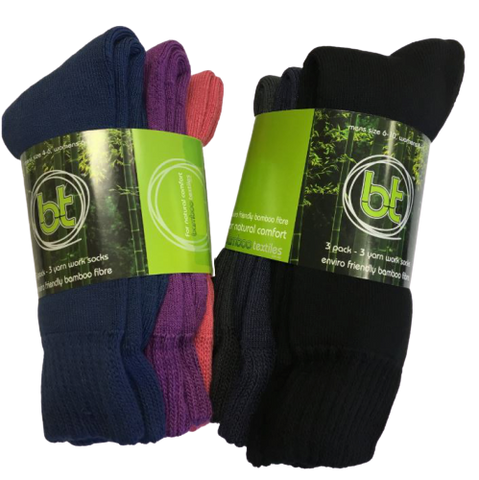 3 PACK BAMBOO 3 YARN WORK SOCKS- Workin Gear